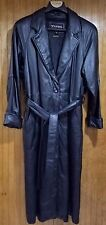 Genuine Black Leather Coat w Zip Out Lining by Wilson's, Size L, Pre-owned