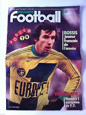 France Football du 1/1/1980; Bossis joueur de l'année/ Yougoslavie n°1/ Podium
