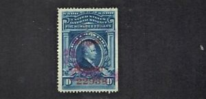 1918- U.S. CLASSIC DOCUMENTARY Blue FUTURE DELIVERY Sc#RC20 Red Numerals