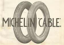 Y2800 Pneumatici MICHELIN Cable - Pubblicità del 1922 - Old advertising