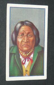 GODFREY PHILLIPS CIGARETTES CARD 1927 RED INDIANS #24 TAMENEND DELAWARE