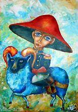 "Painting Original Fine Art OIL 31""x21"" Modern surrealism art Pronkin ""RIDER """