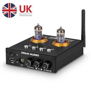 HiFi Valve Tube Preamp Bluetooth 5.0 Receiver Stereo Headphone Amp USB Player