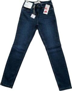 NEXT WOMEN PETITE NAVY MID RISE Stretch Denim Jeggings Legging Skinny Jeans 6-18