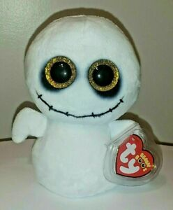 Ty Beanie Boos - SPIKE the Halloween Ghost (6 Inch) 2020 NEW MINT with MINT TAGS