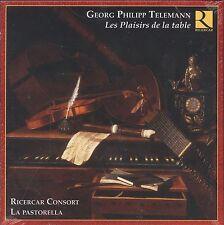Georg Philipp Telemann Les Plaisirs de la table box CD NEW Consort La Pastorella