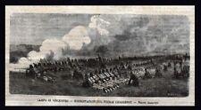 Campo di Vincennes,Francia-Esercitazioni col fucile Chassepot Incisione del 1869