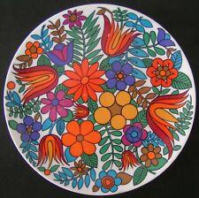 PLAT ROND EN PORCELAINE DE BAVARIA  DECOR FLORAL STYLE ACAPULCO / GERMANY/ 70'S