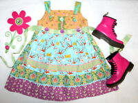 NWOT MATILDA JANE Funnel Cake Pretty Apron Knot Dress Girl Sz 6 New without tags
