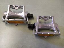 VINTAGE MKS AR-8 TRACK BIKE RACING PEDALS - SILVER 7A