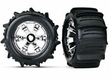 Traxxas - Tires & Wheels (Geode Chrome) Paddle Tires