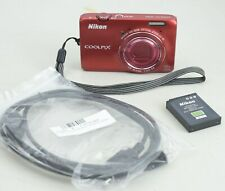 Nikon Coolpix S6300 16.0MP 10X Optical Zoom Red Refurbished 90 Days Warranty