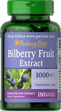 Bilberry Extract 1000 mg Concentrated Bilberry Fruit Extract w/ Antioxidant New