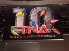 TNA Wrestling 10 Years of Total Nonstop Action Wrestling Christmas X mas Card