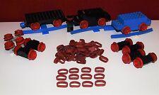 Lego Eisenbahn,30 x Haftreifen,rot,12V/4,5V,Train, Motor,Waggon,Rubber Rims