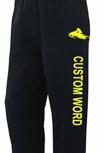 CUSTOM SNOWMOBILE Sweatpants Sm - 5X CHOOSE DESIGN Polaris Ski-Doo Arctic Cat