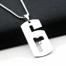 Hot Game Rainbow Six Necklace 6 Logo Titanium Steel Pendant Chain Gamer Fan Gift