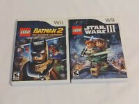 Lot Of 2 Nintendo Wii Lego Games Batman 2 And Star Wars 3 Clone Wars