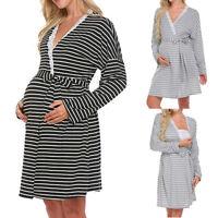 Women's Maternity Nursing Nightdress For Breastfeeding Nightgown Sleepwear Dress