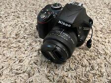 Nikon D3300 24.2MP DSLR Camera - Black w/ AF FX NIKKOR 50mm f/1.8D prime lens