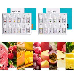 12x DIY Lip Gloss Base Essence Oil Food Grade Lotion Lipstick Making Flavor