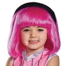 Stephanie Wig Lazy Town Cartoon Fancy Dress Halloween Child Costume Accessory