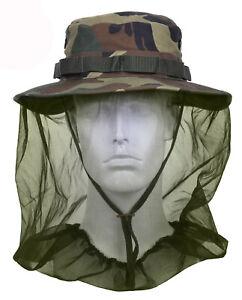 Mosquito Netting Booniehat Woodland Camo Sun Jungle Boonie Hat Rothco 5833