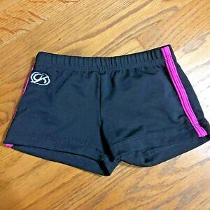 GK Elite Shorts Gymnastics Cheer Sz CM Child Medium Black