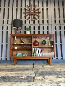 Compact Bookcase Cocktail Drinks Cabinet Display Unit Sideboard Vintage Retro