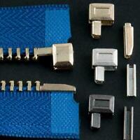 10Set/set Metal Zipper Repair Stopper Open End Tailor Tool Sewing Craft J9W P4E6
