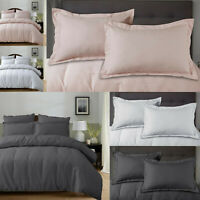 100% Cotton Bedding Waffle Duvet Set With Quilt Cover & Pillow Cases