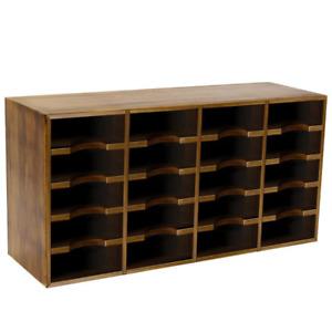 Wooden Card Deck Storage Shelf