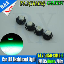 10x GREEN T4.2 Neo Wedge 1-1210 SMD SMT LED Cluster Instrument Dash Climate Bulb