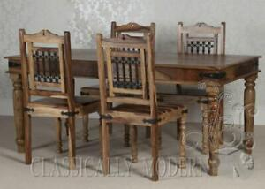 Thakat Dining Table Chairs 4 x Solid Set 1.8M Metre Table