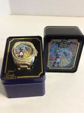 Disney Beauty And The Beastprincess Belle Stained Glass Watch In Collectors Tin