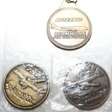 VINTAGE BOEING COINS AND KEYCHAIN 757 ROLLOUT 5000 JET TRANSPORTS SPER PROFILER