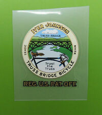 "Iver Johnson ""Trust the Truss"" decal Gold lettering"