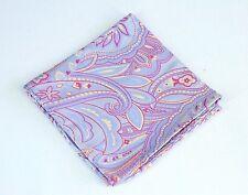 Autumn Copper Soft Pink Silk $75 New Lord R Colton Masterworks Pocket Square