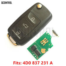 Remote Key for  AUDI  A3 A4 A6 A8 RS4 TT Allroad Quttro 4D0 837 231A HU66 Blade