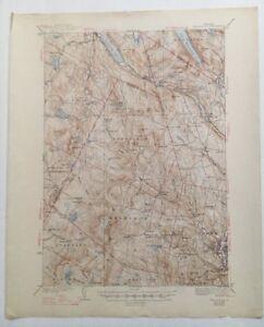 USGS Topographic Map 1939 Data LYNDONVILLE QUADRANGLE, VERMONT