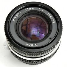 Nikon Nikkor 20mm f/4 AI Converted Manual Focus Lens. Exc++++ See Test Imgs.