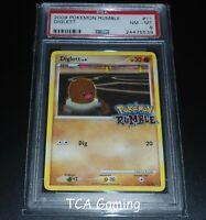 PSA 8 NM-MINT Diglett 11/16 RUMBLE 2009 HOLO RARE Pokemon Card