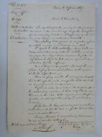 GERARD- Dépèche signée par le maréchal Gérard datée du 2 février 1847