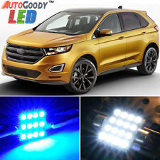12 x Premium Blue LED Lights Interior Package for Ford Edge 2007-2014 + Tool