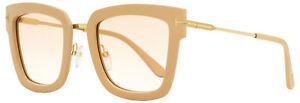 Tom Ford Square Sunglasses TF573 Lara-02 74F Powder Pink/Gold 52mm FT0573