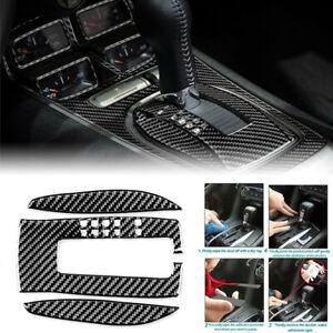 Carbon Fiber Gear Shifter Panel Cover Trim For Chevrolet Camaro 2010-2015