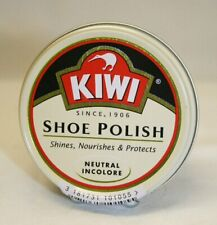 Kiwi Neutral Shoe & Boot Polish 50ml Tin - Perfect for non colouring shine