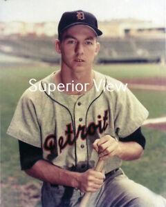 Greatest Photograph Al Kaline Detroit Tiger Legend Color Portrait Bat 1950's WOW