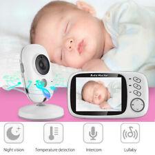 LCD Baby Monitor Wireless Digital Video Night Vision Temperature Sensor Lullaby
