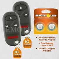 2 For 1998 1999 2000 2001 2002 Honda Accord Keyless Entry Car Remote Key Fob